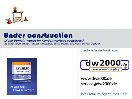 dw2000.de aus dem Landkreis Cham (Bayern) entwickelt bereits seit 1998 professionelle Internet-Auftritte mit echtem Nutzen für Unternehmen und deren Kunden - namhafte Referenzen, auch aus internationaler Ebene - Internet, Marketing,Beratung